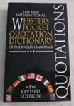 Picture of The New International Webster's Pocket Quotation Dictionary of the English Language