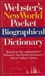 Picture of Webster's New World Pocket Biographical Dictionary