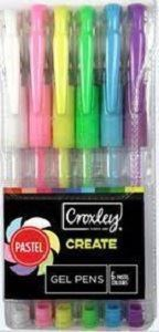 Picture of Croxley Pastel Colour Gel Pens (Set of 6)
