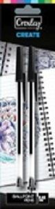 Picture of Croxley Ballpoint Pens Black (box of 12x  2 carded packs)