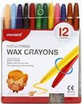 Picture of Monami Retractable Wax Crayons - 12 pack