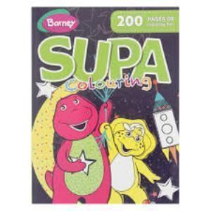 Picture of Barney Supa Colouring Book