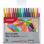 Picture of Monami Retractable Wax Crayons - 16 pack