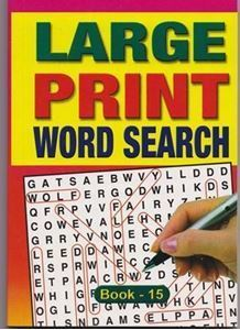 Picture of Large Print Word Search - Book 15
