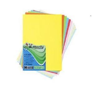 Picture of Butterfly A4 Bright Board 50's (160gsm) - assorted colours