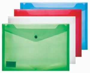 Picture of A4 Plastic Carry Folder (blue)